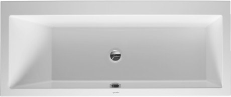 DURAVIT 700133000000090 VERO 66-7/8 X 29-1/2 INCH RECTANGLE BASE BATHTUB, BUILT-IN OR FOR PANEL, WITH ONE BACKREST SLOPE LEFT