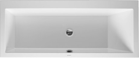 DURAVIT 700134000000090 VERO 66-7/8 X 29-1/2 INCH RECTANGLE BASE BATHTUB, BUILT-IN OR FOR PANEL, WITH ONE BACKREST SLOPE RIGHT
