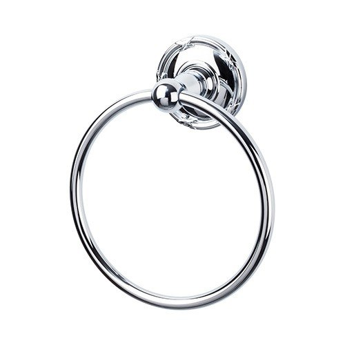 Top Knobs ED5E Edwardian Bath Ring - Ribbon Backplate