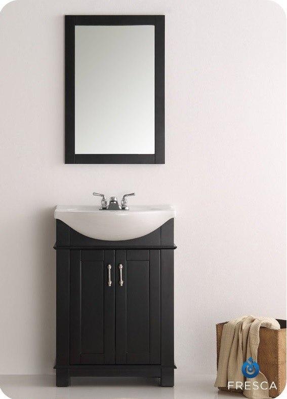 Fresca Fvn2302bl Cmb Hartford 24 Inch Black Traditional Bathroom Vanity