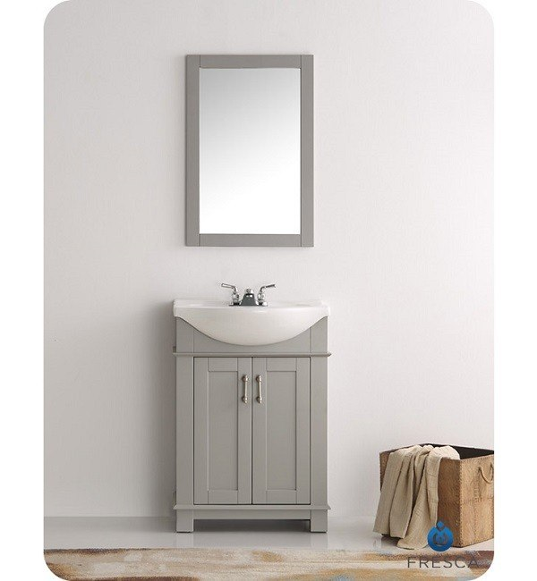 Excellent Fresca Fvn2302Gr Cmb Hartford 24 Inch Gray Traditional Bathroom Vanity Download Free Architecture Designs Ogrambritishbridgeorg