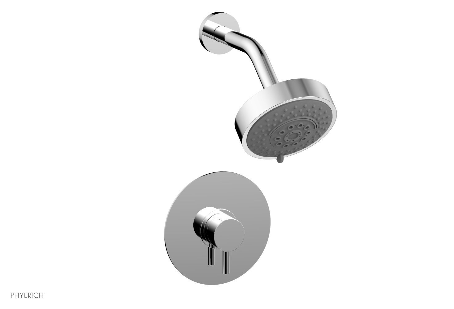 PHYLRICH 230-24 BASIC II WALL MOUNT PRESSURE BALANCE SHOWER SET WITH LEVER HANDLE