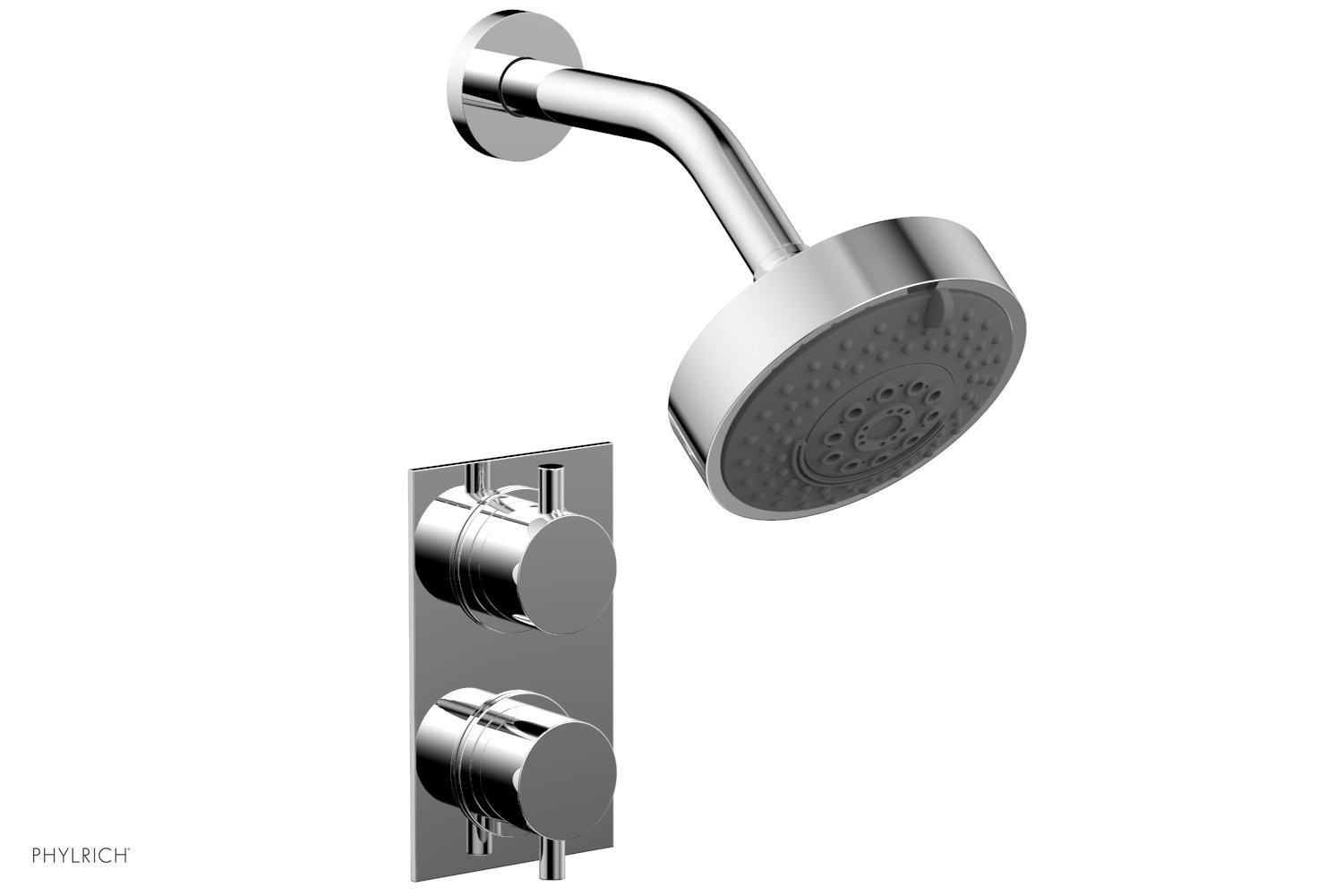 PHYLRICH 230-30 BASIC II WALL MOUNT ECONOMICAL THERMOSTATIC SHOWER SET WITH VOLUME CONTROL