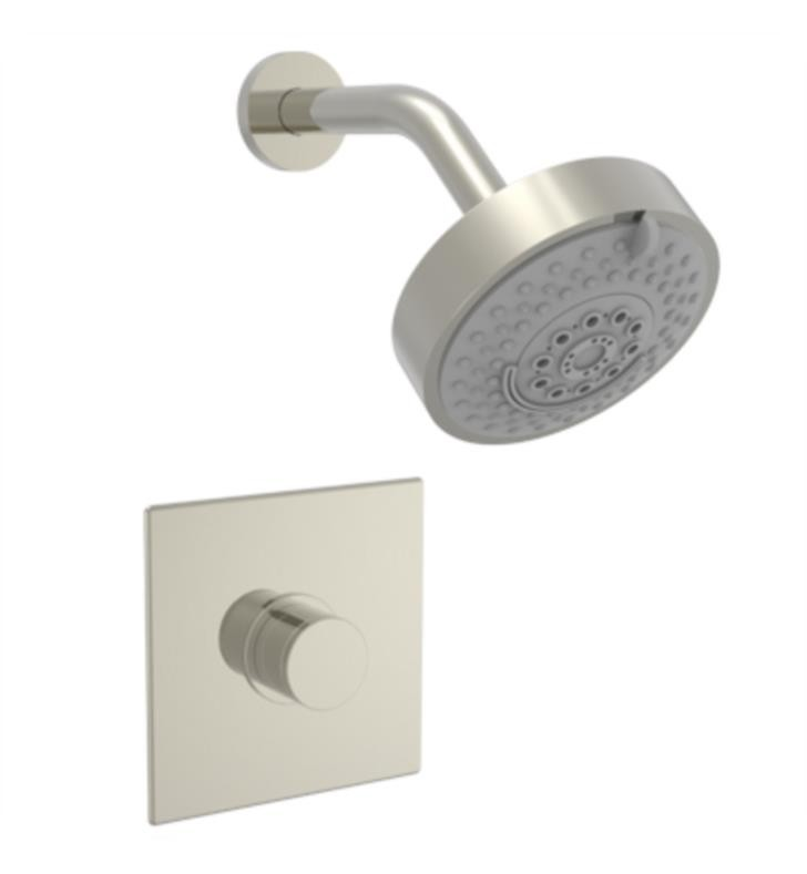 PHYLRICH 230S-21 BASIC II WALL MOUNT PRESSURE BALANCE SHOWER SET WITH KNURLED HANDLE