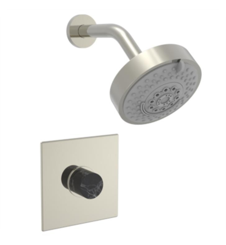 PHYLRICH 230S-23-032 BASIC II WALL MOUNT PRESSURE BALANCE SHOWER SET WITH SOAP STONE KNOB HANDLE