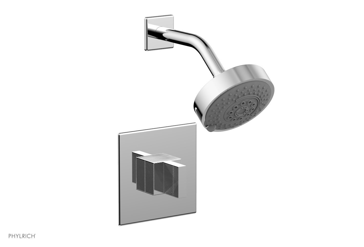 PHYLRICH 291-21 STRIA WALL MOUNT PRESSURE BALANCE SHOWER SET WITH BLADE HANDLE
