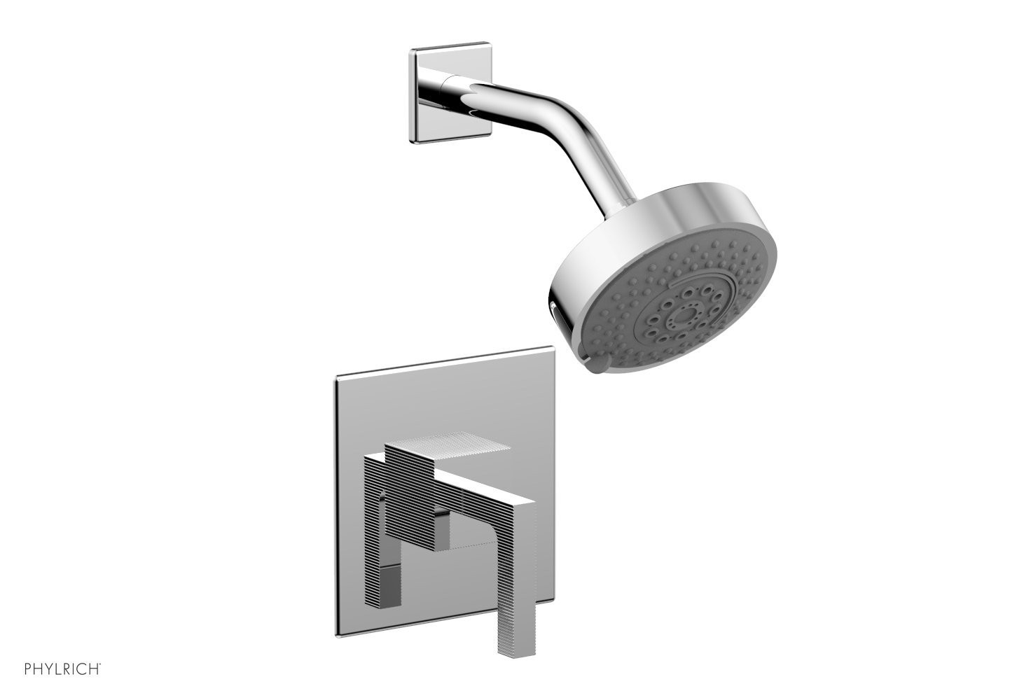 PHYLRICH 291-22 STRIA WALL MOUNT PRESSURE BALANCE SHOWER SET WITH LEVER HANDLE
