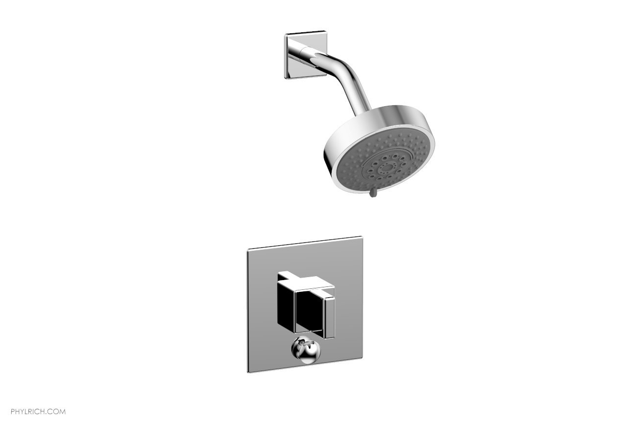 PHYLRICH 4-142 MIX WALL MOUNT PRESSURE BALANCE SHOWER AND DIVERTER SET WITH BLADE HANDLE
