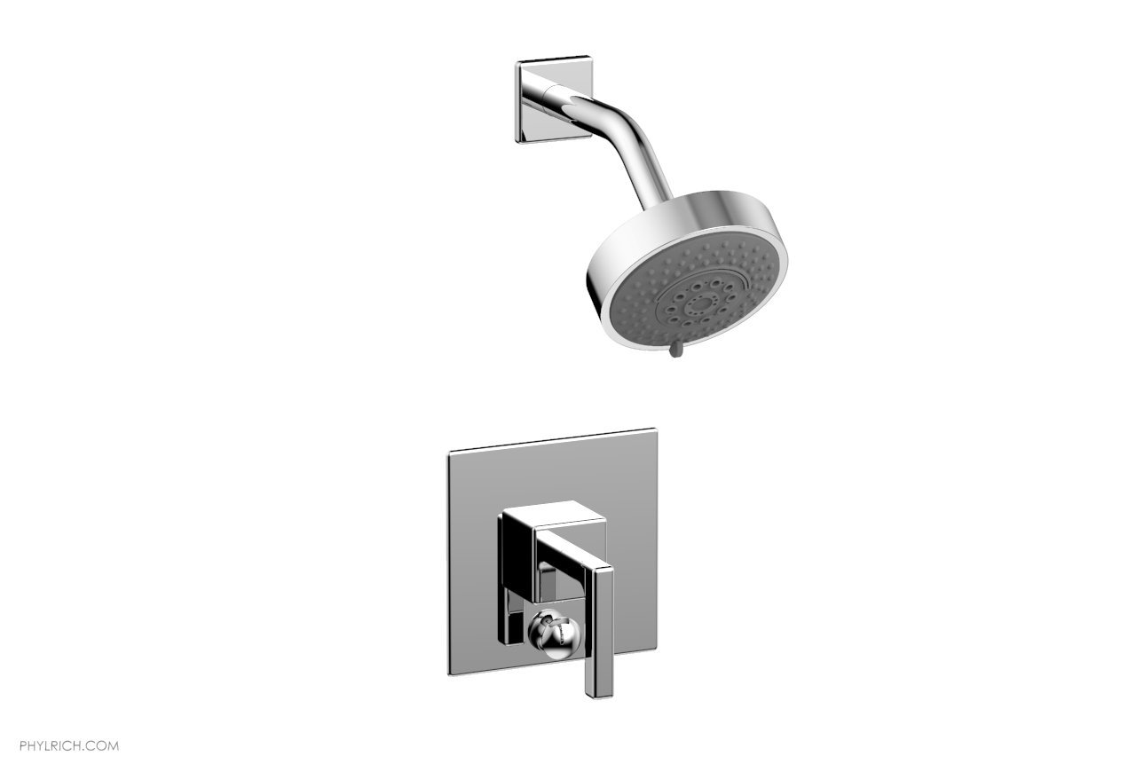 PHYLRICH 4-143 MIX WALL MOUNT PRESSURE BALANCE SHOWER AND DIVERTER SET WITH LEVER HANDLE
