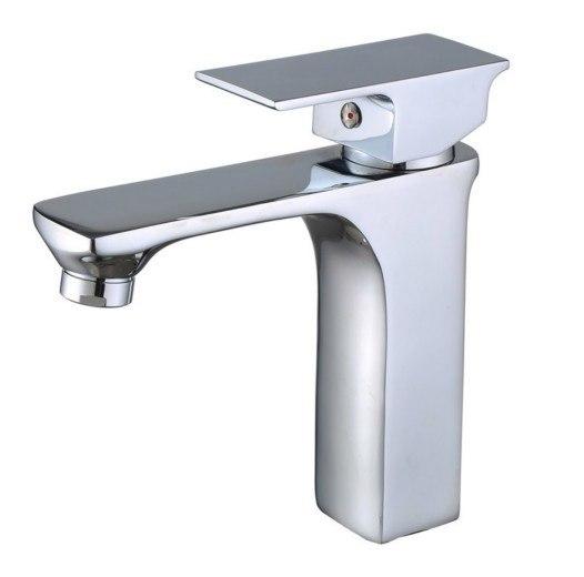 Moreno Bath AFB083 Balzo Modern Single Handle Bathroom Sink Faucet in Chrome