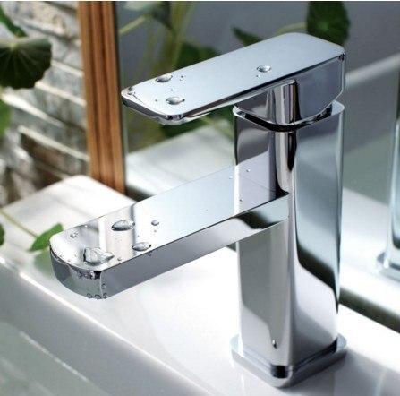 Moreno Bath AFB16033 Balzo Modern Single Handle Bathroom Sink Faucet in Chrome