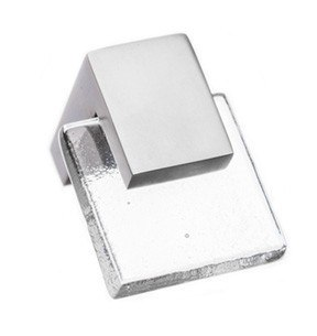 Sietto K-1200 Affinity Clear Square Cabinet Knob