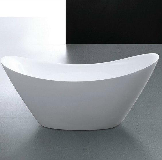 Moreno Bath FST2767 LUNA 67 Inch Free Standing Acrylic Bathtub with CUPC Approval