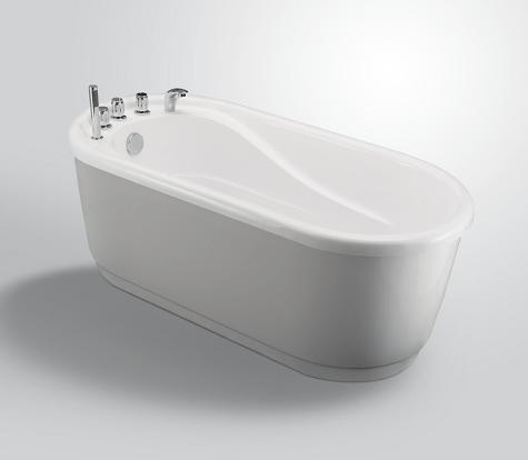 Moreno Bath JL617 67 Inch Free Standing Acrylic Bathtub