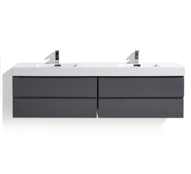 Duravit Lc6166 L Cube 40 1 8 X 18 1 2 Inch Vanity Unit Wall Mounted With One Pull Out