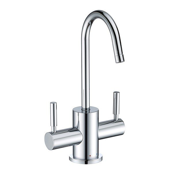 Whitehaus WHFH-HC1010 Point of Use Instant Hot/Cold Water Faucet with Contemporary Spout