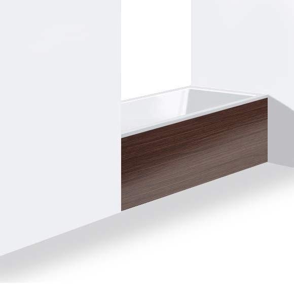 Duravit DS8955 DuraStyle 54-3/4 Inch Panel for Niche for 700233000000090 Bathtub