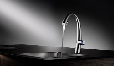 KWC 10.201.242 ZOE Touch Light Pro Pull-Out Spray Kitchen Faucet with LED Technology