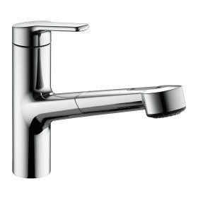 KWC 10.361.033.000 Piana Single Lever Kitchen Faucet with Pull-Out Spray in Chrome