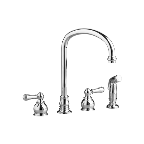 American Standard 4751.732.F15 Hampton 2-Handle High-Arc Kitchen Faucet with Separate Side Spray 1.5 GPM/5.7 L/min. Maximum Flow Rate