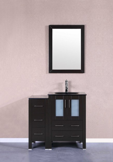 Bosconi AB124BGU1S 36 Inch Single Vanity Set in Espresso