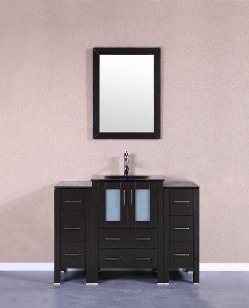 Bosconi AB124BGU2S 48 Inch Single Vanity Set in Espresso