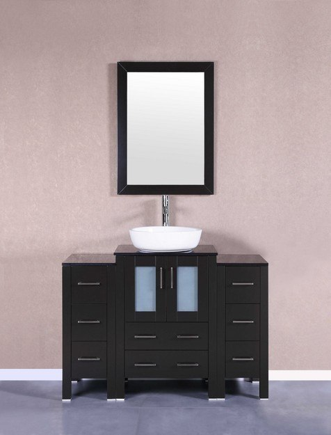 Bosconi AB124BWLBG2S 48 Inch Single Vanity Set in Espresso