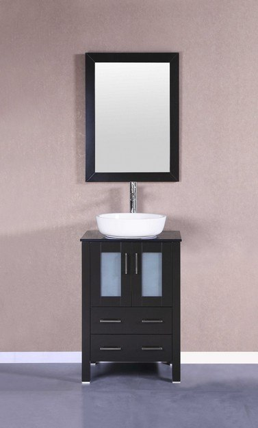 Bosconi AB124BWLBG 24 Inch Single Vanity Set in Espresso