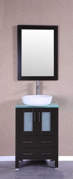 Bosconi AB124BWLCWG 24 Inch Single Vanity Set in Espresso