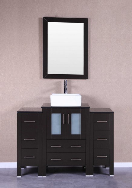 Bosconi AB124CBEBG2S 48 Inch Single Vanity Set in Espresso