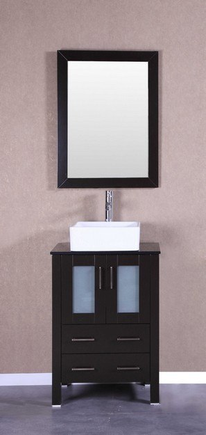 Bosconi AB124CBEBG 24 Inch Single Vanity Set in Espresso