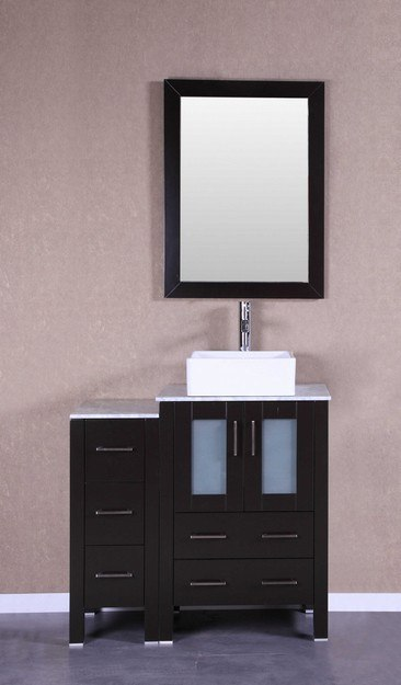 Bosconi AB124CBECM1S 36 Inch Single Vanity Set in Espresso