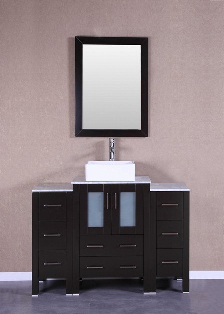 Bosconi AB124CBECM2S 48 Inch Single Vanity Set in Espresso