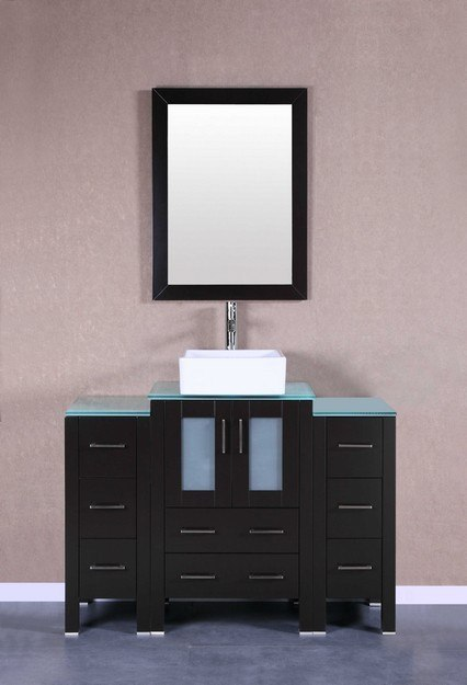 Bosconi AB124CBECWG2S 48 Inch Single Vanity Set in Espresso