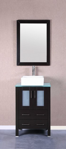 Bosconi AB124CBECWG 24 Inch Single Vanity Set in Espresso