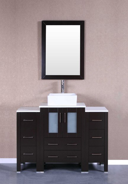 Bosconi AB124CBEPS2S 48 Inch Single Vanity Set in Espresso