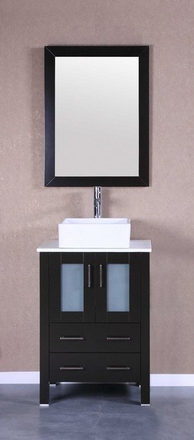 Bosconi AB124CBEPS 24 Inch Single Vanity Set in Espresso