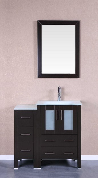 Bosconi AB124EWGU1S 36 Inch Single Vanity Set in Espresso