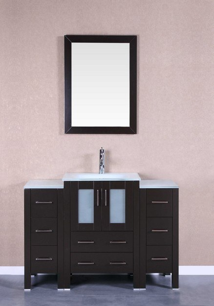Bosconi AB124EWGU2S 48 Inch Single Vanity Set in Espresso