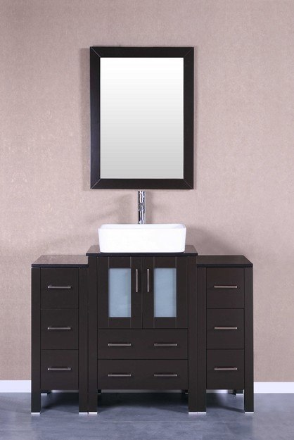 Bosconi AB124RCBG2S 48 Inch Single Vanity Set in Espresso