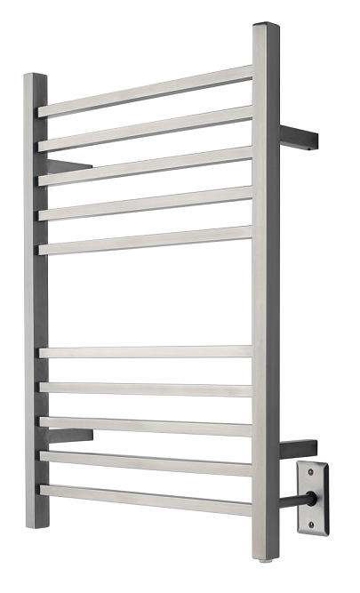 AMBA PRODUCTS RSWH RADIANT 24 W X 32 H INCH SQUARE HARDWIRED HEATED TOWEL RACK