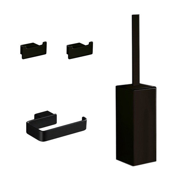 GEDY LG1433-M4 LOUNGE 4 PIECE BLACK ACCESSORY HARDWARE SET