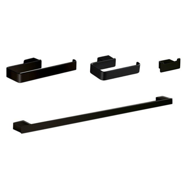 GEDY LG1800-M4 LOUNGE 4 PIECE BLACK ACCESSORY HARDWARE SET