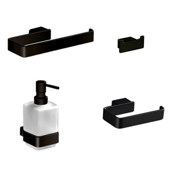 GEDY LG400-M4 LOUNGE 4 PIECE BLACK ACCESSORY HARDWARE SET