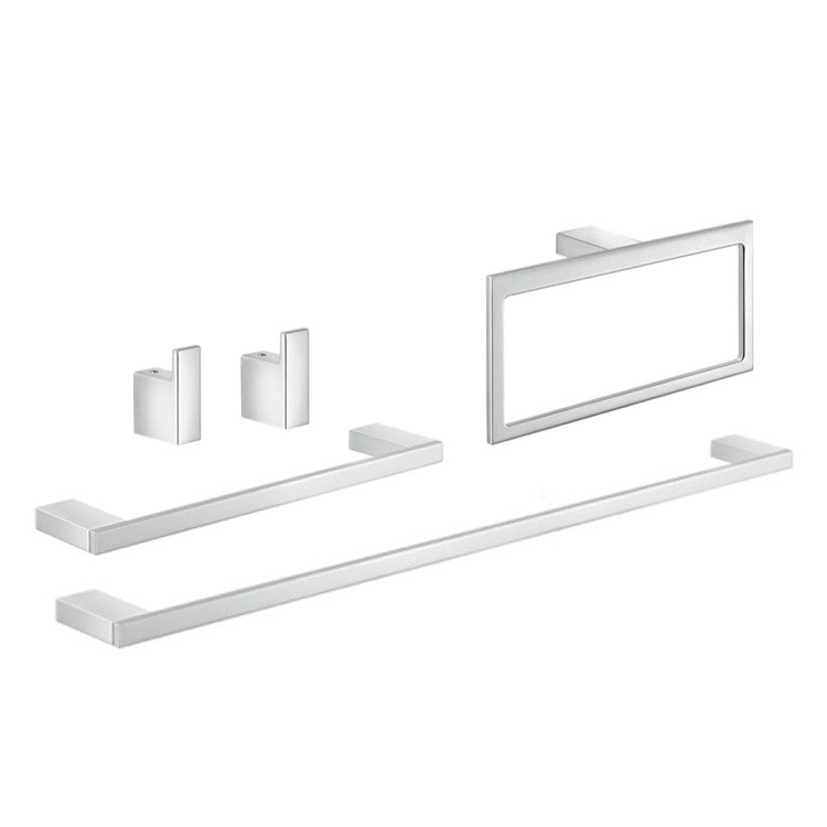 GEDY LZ1121 LANZAROTE 5 PIECE WALL MOUNTED BATHROOM HARDWARE SET