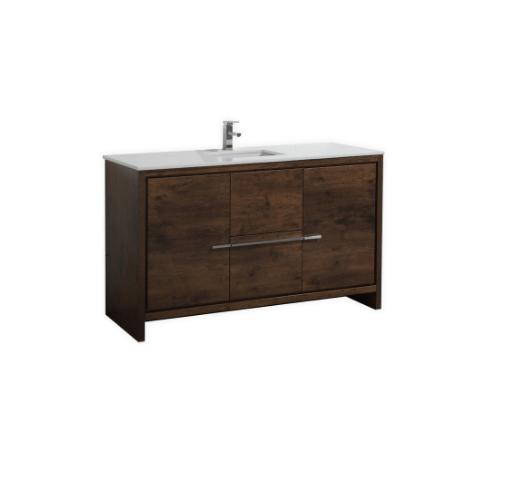 Moreno Bath MD648SRW MOD 48 Inch Rosewood Modern Bathroom Vanity With 2 Doors and Acrylic Sink