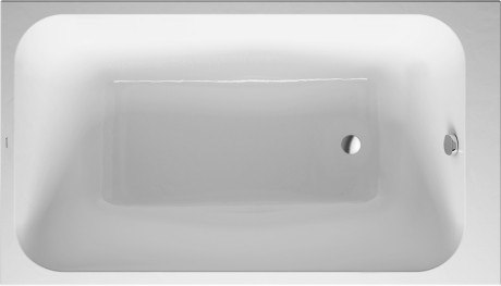 Duravit 700233000000090 DuraStyle 55-1/8 x 31-1/2 Inch Rectangle Base Bathtub Built-In or for Panel
