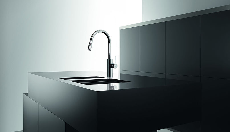 KWC 10.441.002 Luna-E Kitchen Faucet with Pull-Out Spray