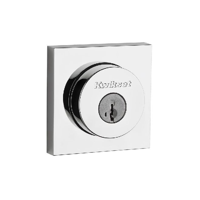 KWIKSET 158SQTS SIGNATURE SERIES SQUARE ROSE HALIFAX DEADBOLT - SINGLE CYLINDER