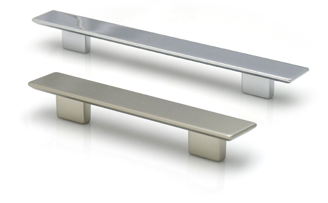Topex 8-104319216035 Rectangular Pull 6 1/4 Inches (160mm) and 7 1/2 Inches (192mm) Satin Nickel